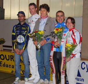 podium Céline CLM st georges d'esperanche 2014